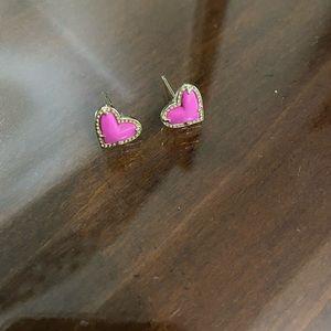 Kendra Scott pink heart earrings! 💕